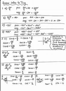 trigonometry word problems worksheets with answers 11171 trigonometry review pdf amulette