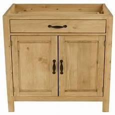 meuble bas de cuisine en pin massif 120 cm 2 portes 1