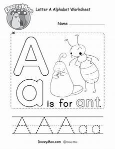 uppercase letter a coloring page free printable doozy moo