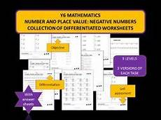 place value worksheets y6 5348 y6 mathematics number and place value negative numbers differentiated worksheets teaching