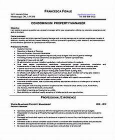 property manager resume sle and tips