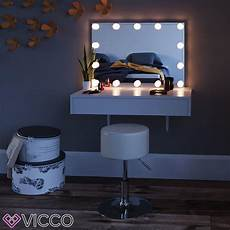 vicco schminktisch alessia wei 223 wandh 228 ngend mit led real