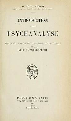 introduction a la psychanalyse open library