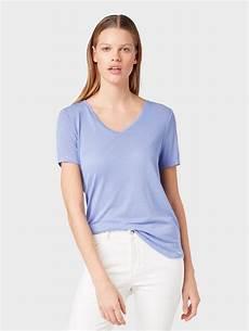 tom tailor denim kurzarmshirt 187 t shirt mit v ausschnitt