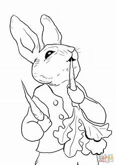 rabbit radishes coloring page free