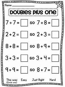 addition worksheets doubles plus one 8828 grade math unit 4 addition to 20 grade math homeschool math math