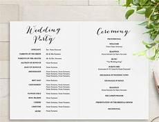25 wedding program templates psd ai eps publisher free premium templates