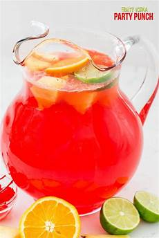 fruity vodka party punch recipe in 2019 alcoholic
