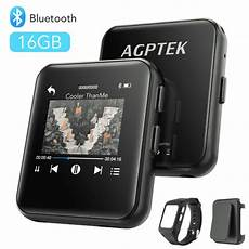 agptek bluetooth mp3 with touch screen 16gb clip