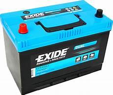 batterie 95 ah exide er450 dual 12v 95ah 650a 450wh