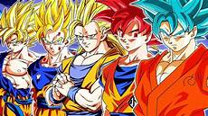 all of goku s transformations power levels youtube