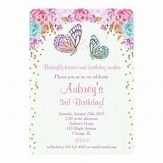 invitation card template butterfly butterfly birthday invitation pink purple gold invitation