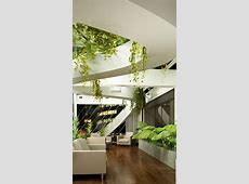 Wallpaper Living room, design, high tech, modern, plants