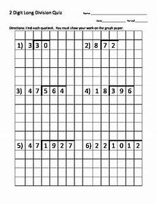 division worksheets on graph paper 6315 division quiz 2 digit divisor w graph paper with images division graph paper