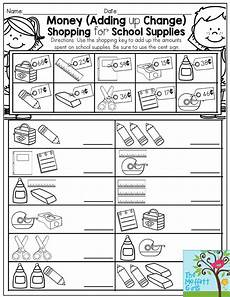 money shopping list worksheets 2221 money adding up change shopping for school supplies back to school activity for third
