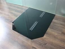 Sechseck 120x130cm Glas Schwarz Funkenschutzplatte