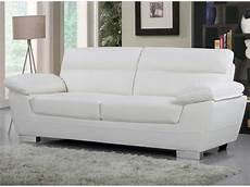 vendre canapé canap 233 cuir reconstitu 233 pvc quot dallas quot 3 places blanc
