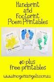 Kid's And Painting  Handprint Footprint Poem