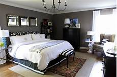 Bedroom Ideas Grey And Black by Bedroom Decorating Painted Charcoal Gray Walls0white