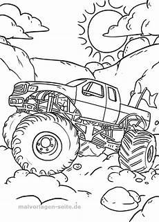 malvorlage monstertruck kostenlos herunterladen