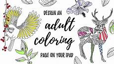 design an adult coloring book page on your ipad in