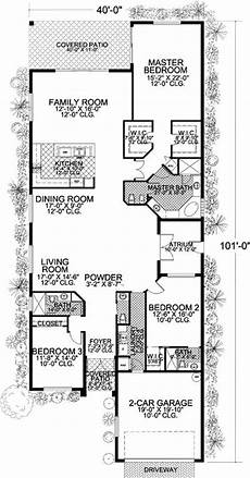house plans for long narrow lots plan 32183aa long and narrow mediterranean home plan