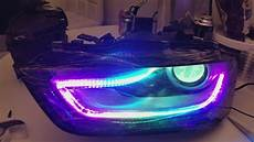 audi b8 5 s4 a4 custom led headlights youtube