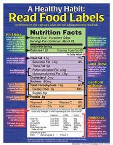 read food labels handouts with images nutrition facts