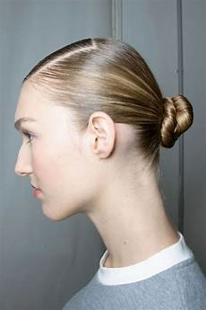 low buns seen the runway low bun hairstyles for spring