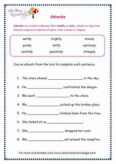 adverb of time worksheets grade 3 3462 grade 3 grammar topic 16 adverbs worksheets lets knowledge