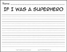 superhero worksheets 4th grade free printable writing prompts for kindergarten through