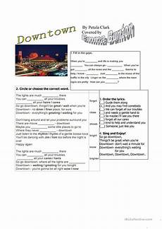 worksheets printable 15561 downtown by petula clark or bunton worksheet free esl printable worksheets made by teachers