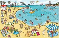 Malvorlagen Urlaub Strand Englisch Praatplaat Strand Playa Thema Zomer Kleuters