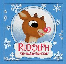 rudolph the nose reindeer panel applique shiny nose merry christmas graphics pictures