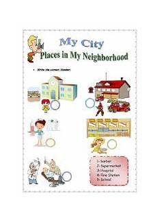 places in my city worksheets 15968 places in the city worksheets