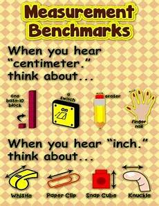 measurement benchmarks poster anchor chart with cards for students