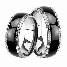 black wedding rings for him affordable his hers wedding rings black plated bands