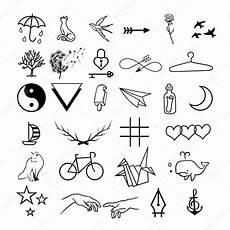 Kleine Vorlagen - minimalistic tattoos vector set stock vector