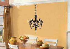 chandelier light vinyl wall stickers decal room decor ebay