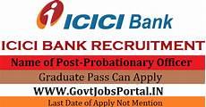 icici bank po recruitment 2017 probationary officer