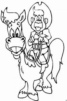 Malvorlage Pferd Comic Lachender Reiter Mit Pferd Ausmalbild Malvorlage Comics