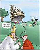 Catholic Priests With The Easter Bunny Cartoon  Atheist