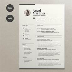 resume indesign word the template like all designs cm come as a zip file