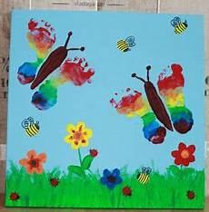schmetterlinge basteln einfach fu 223 abdr 252 cke schmetterling springtime kindergarten