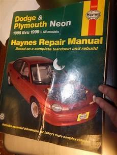free car manuals to download 1999 dodge neon parental controls haynes dodge plymouth neon 1995 1999 repair manual book repair manuals automotive repair
