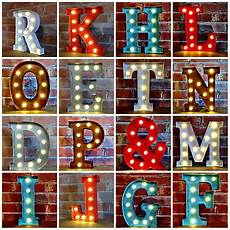 metal led 12 quot marquee letter lights vintage circus style