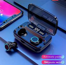 Bluetooth Touch Headset Digital Display by M11 Tws Bluetooth Earphone Led Digital Display Touch 5 0