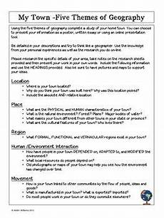 five themes of geography project about your town free five themes of geography social