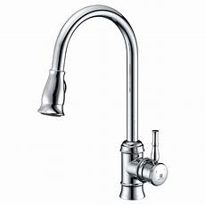 chrome kitchen faucet anzzi sails series single handle pull sprayer kitchen faucet in polished chrome kf az044