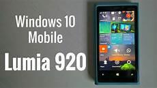lumia 920 windows 10 mobile rendimiento en espa 241 ol youtube